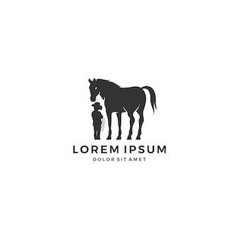 Logo bambino a cavallo