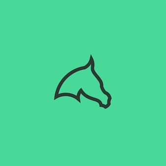 Cavallo linea arte semplice logo minimalista design ispirazione illustrazione vettoriale
