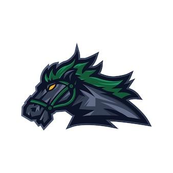 Vettore di progettazione di logo del cavallo con stile moderno di concetto dell'illustrazione per il distintivo