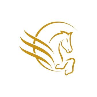 Disegno del logo del cavallo