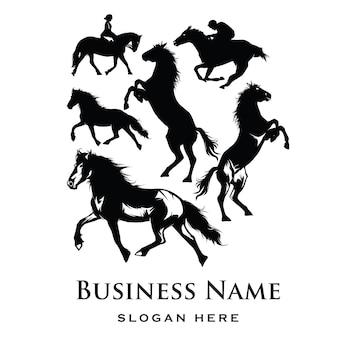 Silhouette logo di cavallo