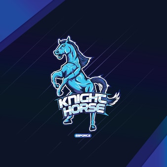 Design esports logo mascotte cavallo