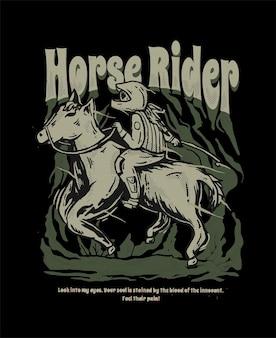 Illustrazione di cavaliere a cavallo