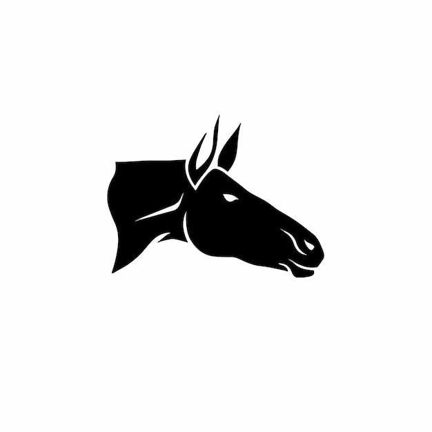 Simbolo del cavallo logo tattoo design stencil vector illustration