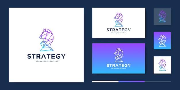 Design del logo tecnico del cavallo