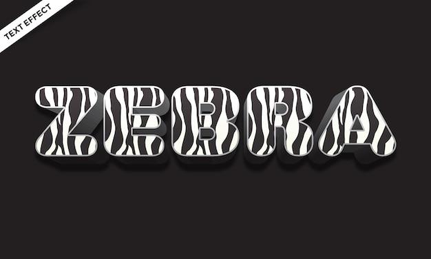 Design effetto testo color pelle di cavallo zebra
