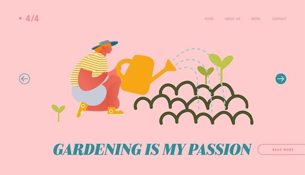 Pagina di destinazione del sito web per hobby di orticoltura e orticoltura