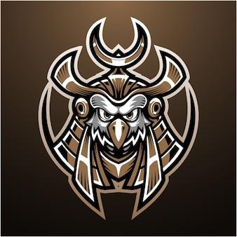 Logo mascotte testa di horus