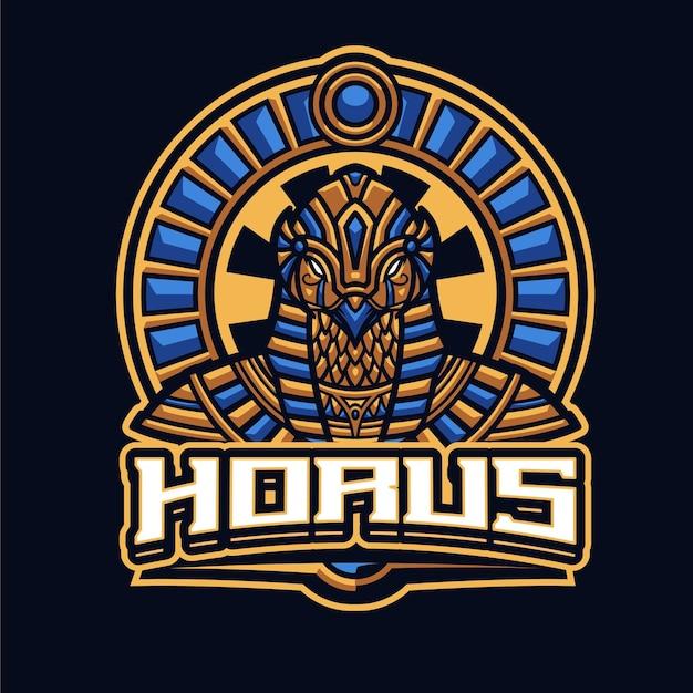Modello di logo della mascotte di horus