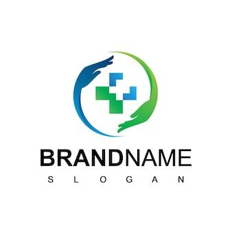 Simbolo dell'assistenza sanitaria del logo dell'ospedale e della clinica