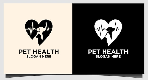 Logo per la cura degli animali domestici per la salute dell'ospedale vector