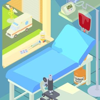 Concetto di camera medica dell'ospedale