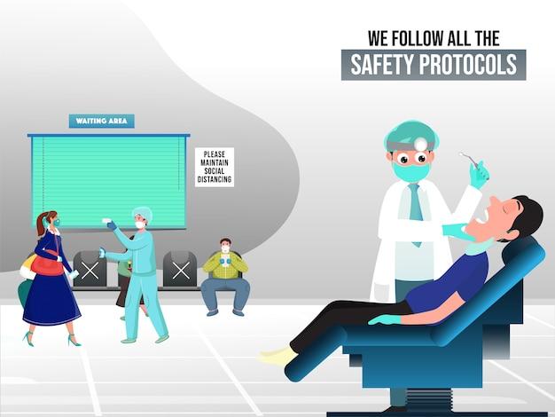 Ospedali e cliniche secondo il concetto covid-19