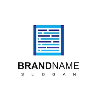 Simbolo di design del logo di hosting per società di server