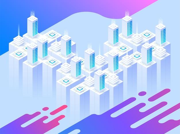 Illustrazione di servizi di hosting