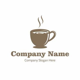 Hot caffe shop cafe logo vettore