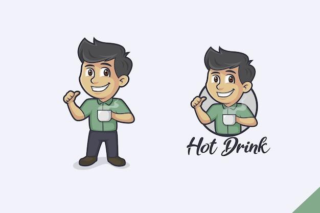 Logo del fumetto di bevanda calda