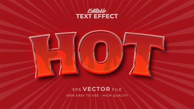 Effetto di testo modificabile a caldo