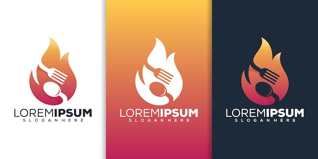 Design del logo del cibo caldo