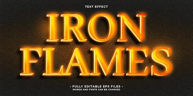 Fuoco incandescente caldo fiamme effetto testo modificabile eps cc parole e caratteri possono essere cambiati