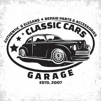 Illustrazione di garage hot rod