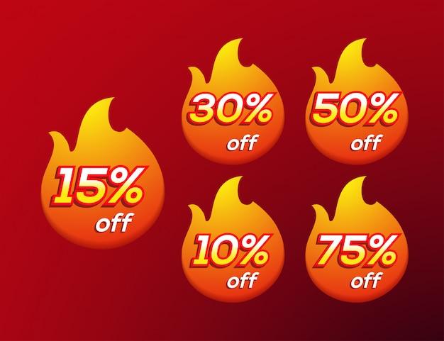 Etichetta del fuoco di vendita calda