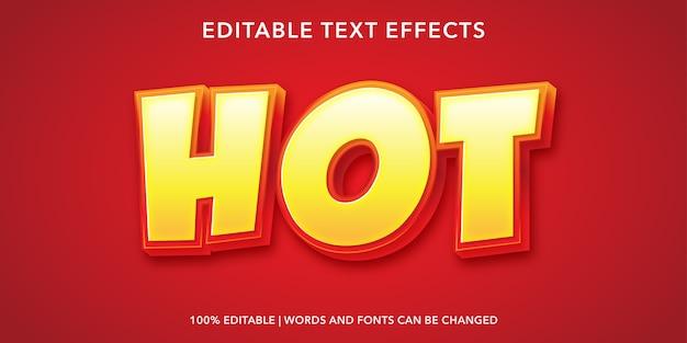 Effetto di testo modificabile in stile testo caldo