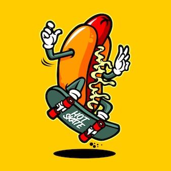 Personaggio dei cartoni animati di hot dog skate