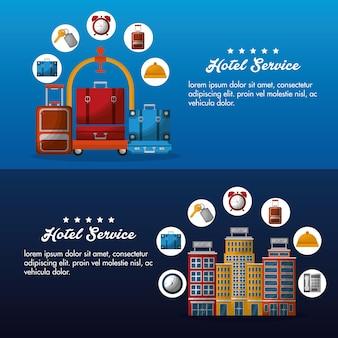 Banner pubblicitario di servizio alberghiero