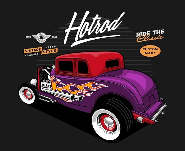 Illustrazione di auto hotrod