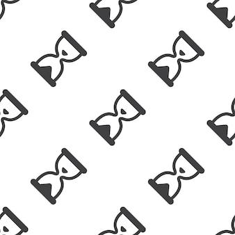 Clessidra, motivo vettoriale senza soluzione di continuità, modificabile può essere utilizzato per sfondi di pagine web, riempimenti a motivo
