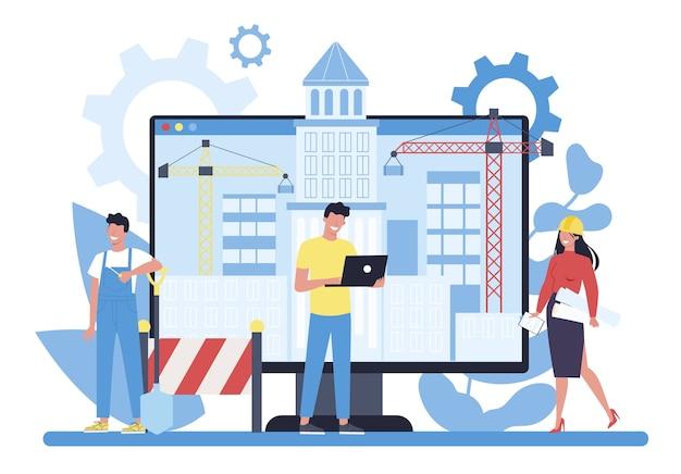 Piattaforma di progetti online di costruzione di case