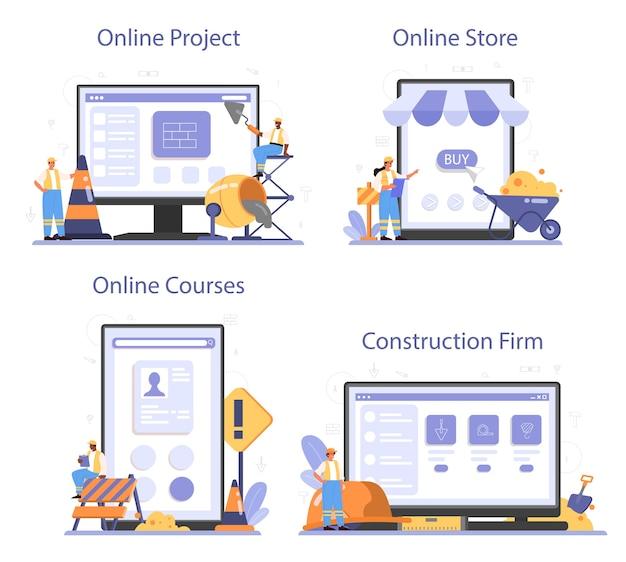Servizio online di costruzione di case o set di piattaforme