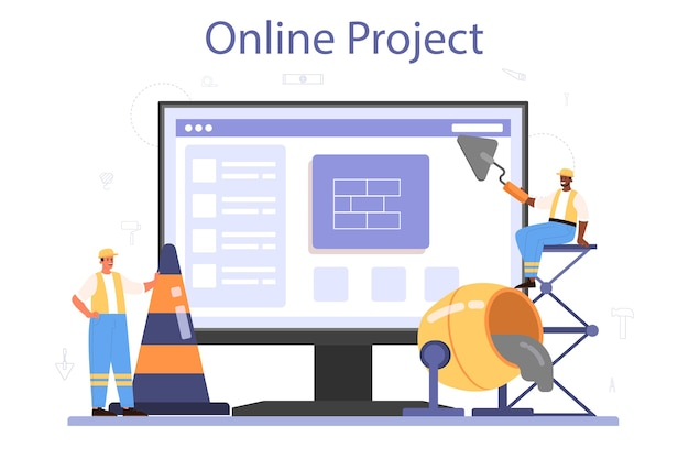 Servizio o piattaforma online di costruzione di case
