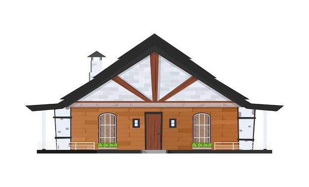 Icona del fumetto casa. illustrazione casa su sfondo bianco.