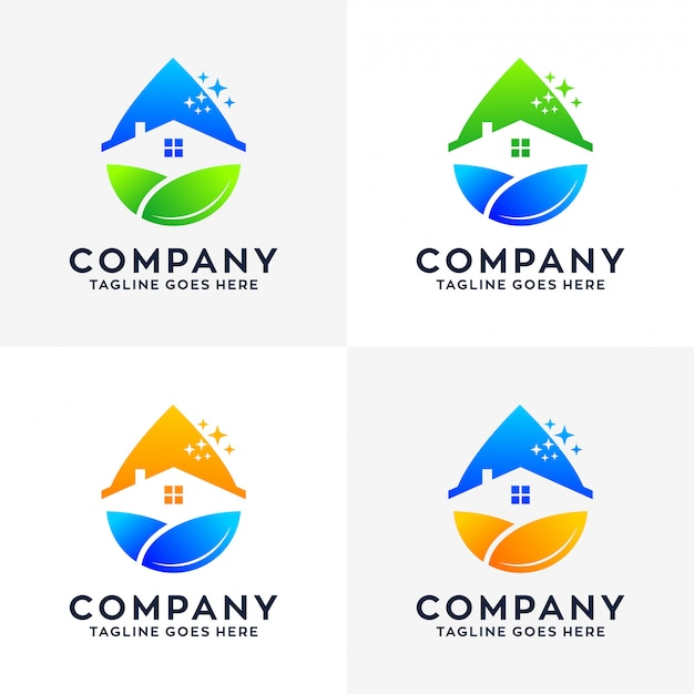 Logo di pulizia della casa