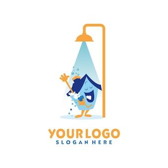 Design del logo del servizio di pulizia della casa