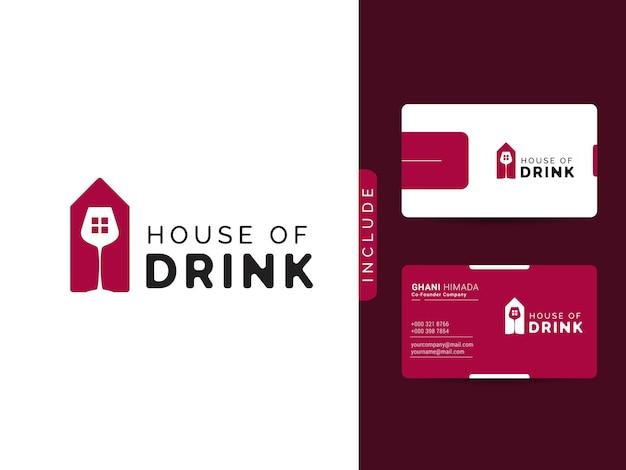 Design del logo della casa della bevanda