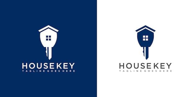 Design del logo chiave di casa