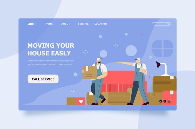 Modello di pagina di destinazione dei servizi di trasloco