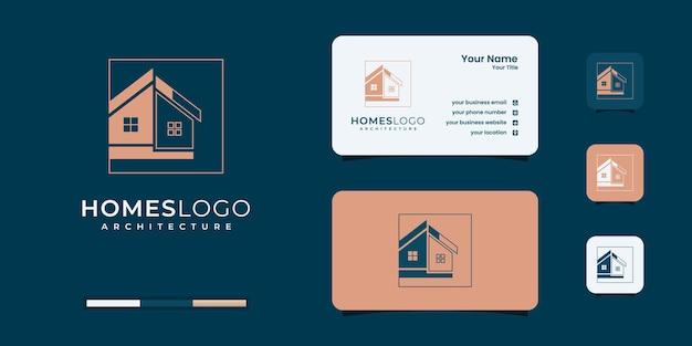 Modelli di design del logo immobiliare per la ristrutturazione della casa