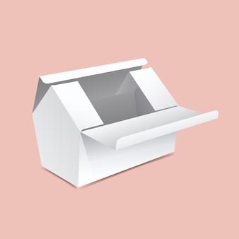 Scatola a forma di casa mock up