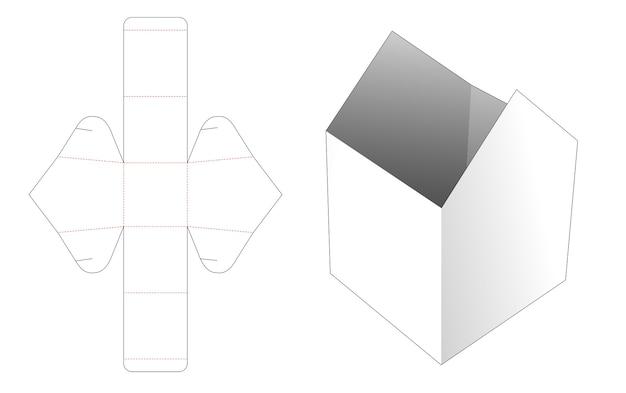 Modello fustellato di ciotola a forma di casa
