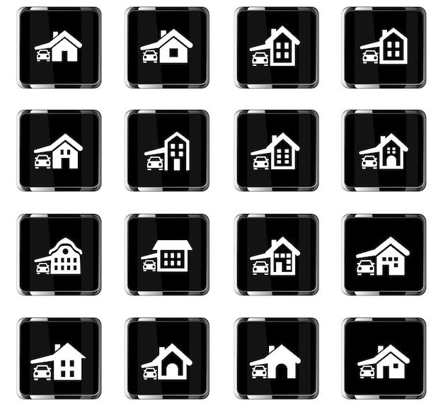 Icone vettoriali tipo casa per la progettazione dell'interfaccia utente