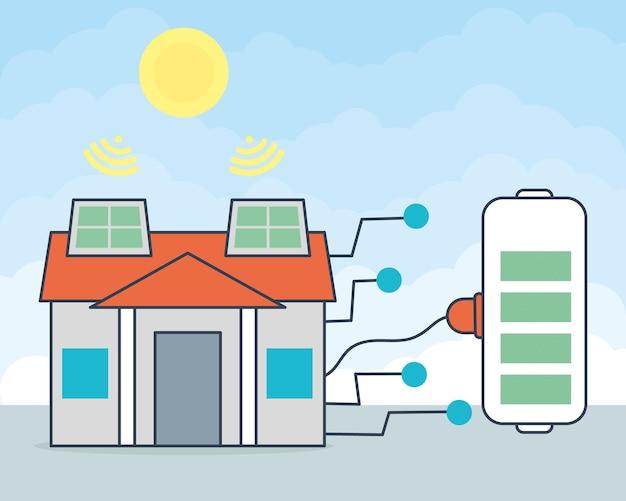 Casa con design a pannelli solari