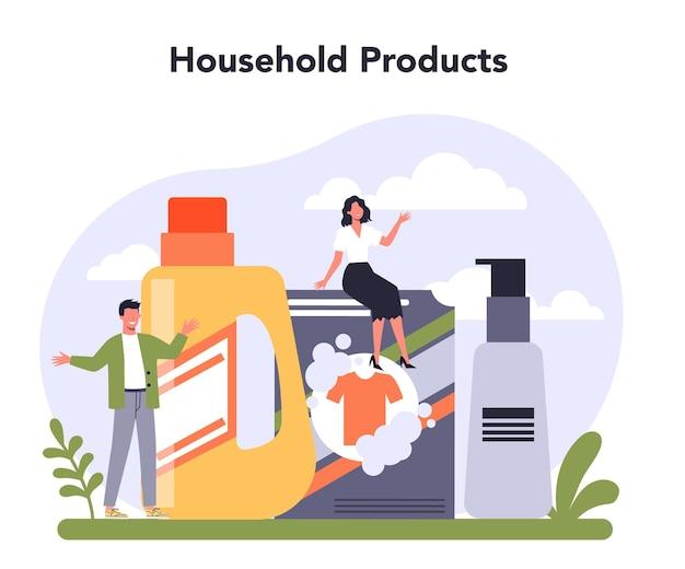 Settore dell'economia dell'industria dei prodotti per la casa e per la persona Vettore Premium