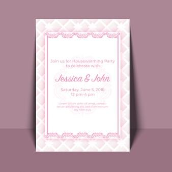 Disegno di carta dell'invito del partito di inaugurazione della casa