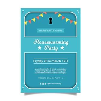 Disegno del modello di invito festa di inaugurazione della casa