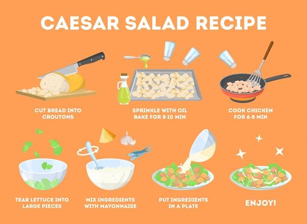 Come cucinare l'insalata caesar a casa