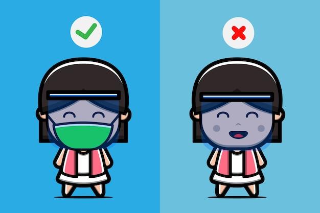 Come indossare correttamente una maschera e uno schermo facciale per prevenire la diffusione di batteri, virus corona